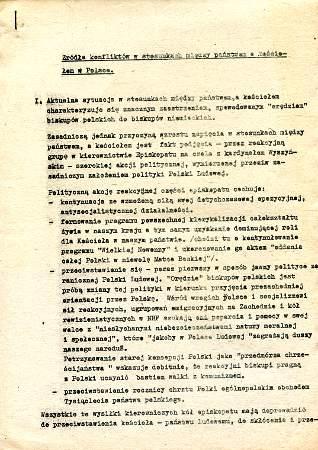 Źródła konfliktów między państwem a kościołem w Polsce Zrodla konfliktow miedzy panstwem a kosciolem rozdział PRL 1966 millenium Millennium wba0609