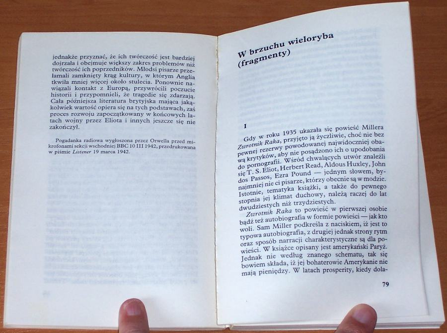 Orwell-George-I-slepy-by-dostrzegl-Wybor-esejow-i-felietonow-Krakow-KAW-Krajowa-Agencja-Wydawnicza-1990