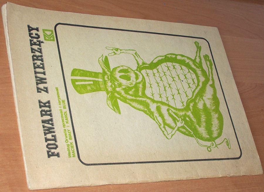 Maciek-Bialy-i-Karol-Blue-oprac-rys-Folwark-Zwierzecy-Komiks-Wedlug-Orwella-Rekontra-1985-Sniecinski-Fernando-Molina