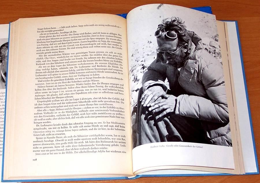 Tichy-Herbert-Cho-Oyu-Gnade-der-Goetter-Wien-West-Berlin-Ullstein-1957-Mountains-Himalaya-Climbing