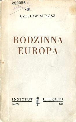 Miłosz Milosz Rodzinna Europa wba0638