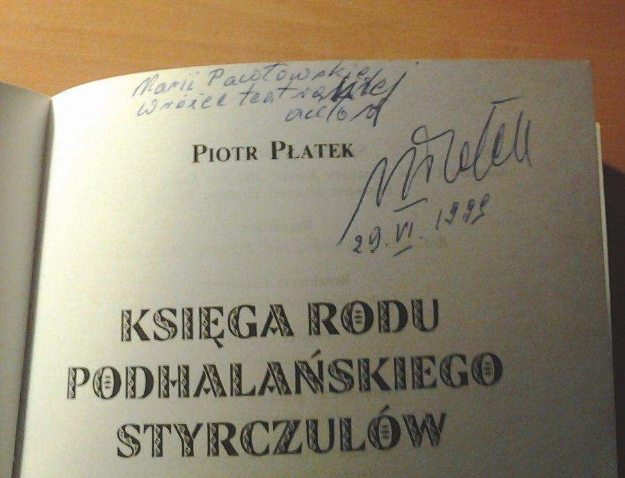 Platek-Piotr-Ksiega-rodu-podhalanskiego-Styrczulow-Masniakow-Zakopane-Krakow-Teatr-Regionalny-1999-Styrczula