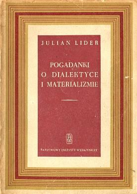 Lider Pogadanki o dialektyce i materializmie Materializm dialektyczny wba0667