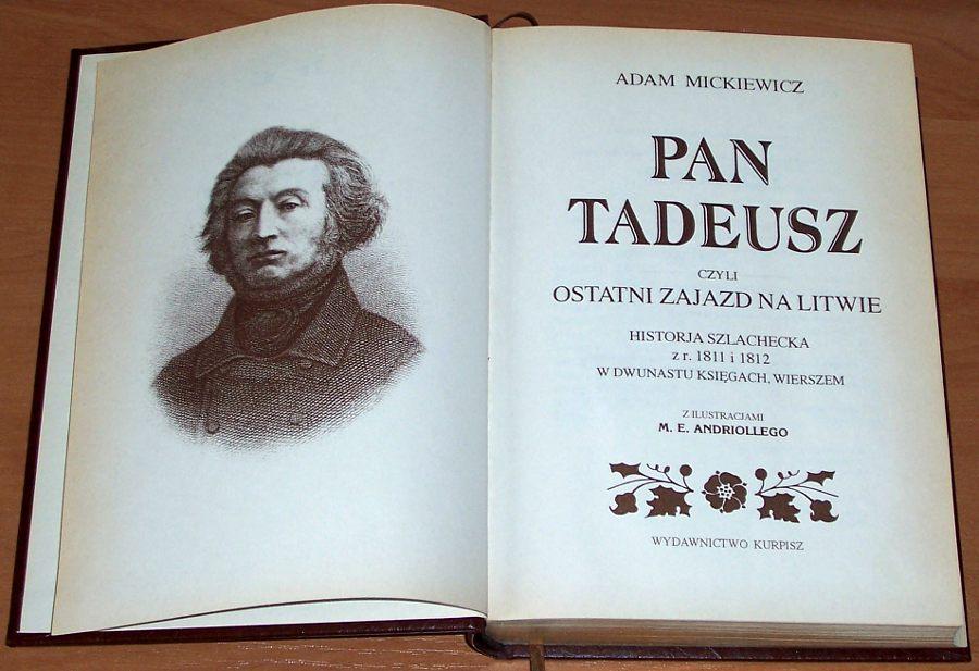 Mickiewicz-Adam-Pan-Tadeusz-Poznan-Wydawnictwo-Kurpisz-1999-Klasyka-Polska-Wyd-luksusowe-zlota-kolekcja