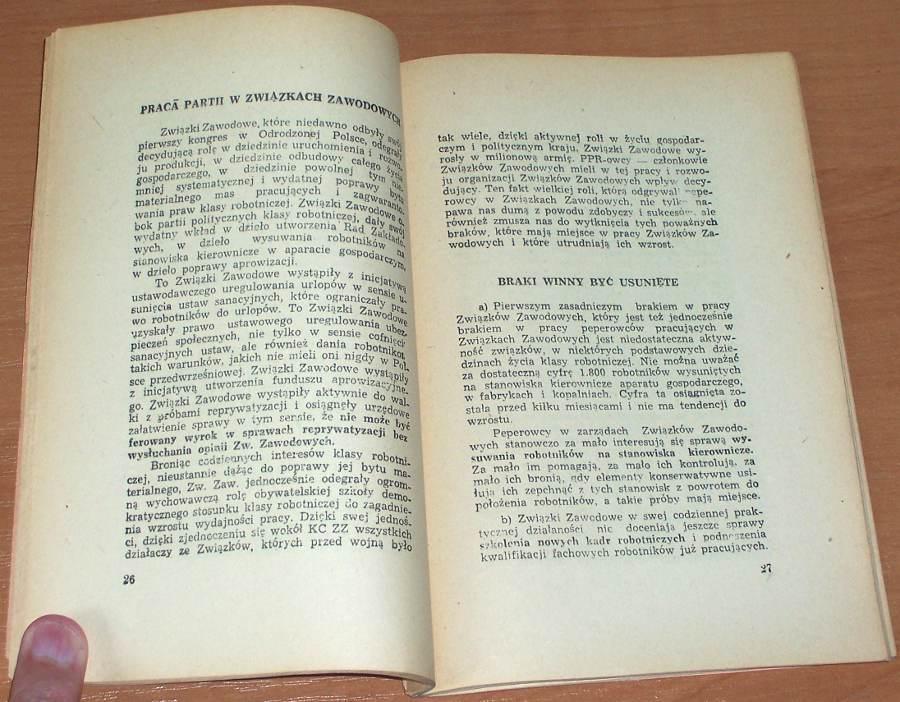 Zambrowski-Roman-O-masowa-milionowa-partie-Sprawozdanie-organizacyjne-KC-na-I-Zjezdzie-PPR-Lodz-Ksiazka-1946