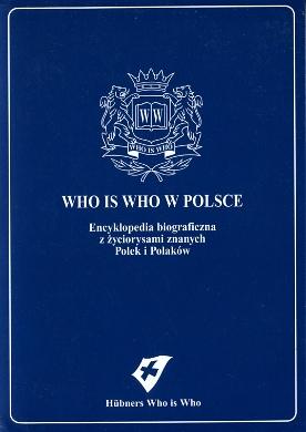 Who is who w Polsce Leksykon biograficzny Hübners Blaues Who is Who 3729000519 3-7290-0051-9 9783729000513 978-3-7290-0051-3 Polska Poland Polen biographical Lexicon Biographische Lexikon wba0749