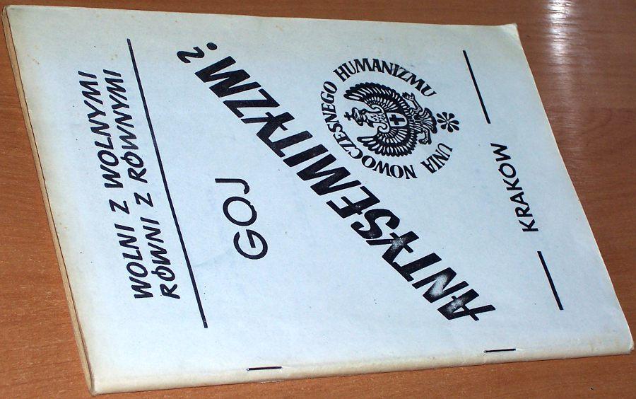 Mieszkiewicz-Bolko-Goj-pseud-Antysemityzm-Krakow-Unia-Nowoczesnego-Humanizmu-1987-Antysymityzm-Jarnicki
