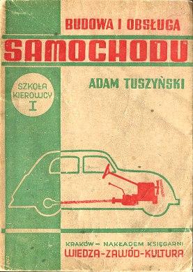 Tuszyński Tuszynski Budowa i obsługa samochodu obsluga samochod samochód auto wba0769